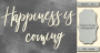 чипборд happiness is coming 10х20 см #464